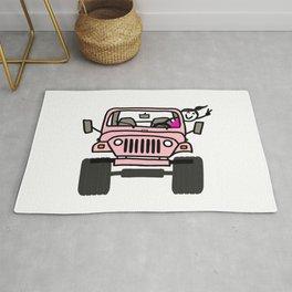 Jeep Wave Pink - Girl Rug