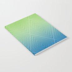 Diamonds (GreenFlashSnorkelBlue Fade) Notebook