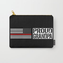 Firefighter: Proud Grandpa (Thin Red Line) Carry-All Pouch