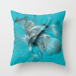 Abstract Fish Throw Pillow