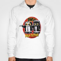 tarantino Hoodies featuring Owls Pulp Fiction by Lime