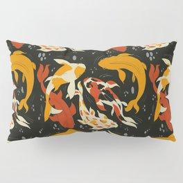 Koi in Black Water Pillow Sham