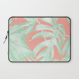 Island Love Coral Pink + Light Green Laptop Sleeve
