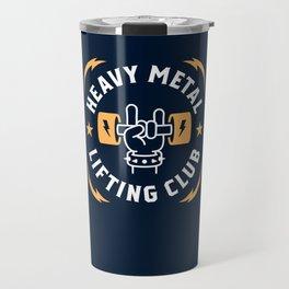Heavy Metal Lifting Club (Yellow) Travel Mug