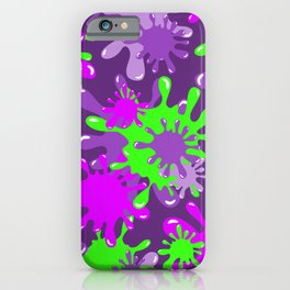 Slime in Green & Pink on Purples iPhone Case