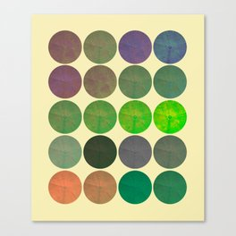 Disco Discs 2 Canvas Print