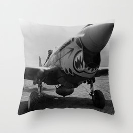 Vintage Fighter Throw Pillow