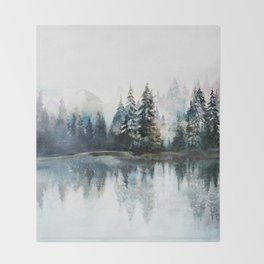 Winter Morning Throw Blanket