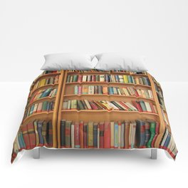 Bookshelf Books Library Bookworm Reading Comforters