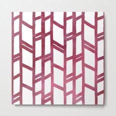Maroon skyscraper pattern Metal Print