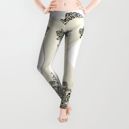 Vintage Black and White Corset Leggings