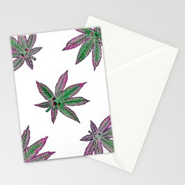 Kawaii hemp leaf Stationery Cards
