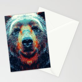 Bear - Colorful Animals Stationery Cards