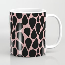 Black rain pink sky Coffee Mug