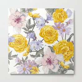 Yellow roses 8 Metal Print