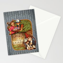 Nothing Ventured Nothing Gained Stationery Cards