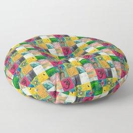 Buddha Patchwork Painting Floor Pillow