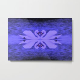 Swans in Love (in a purple haze) Metal Print