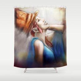 Happy Hatter Shower Curtain