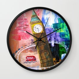 London Hoop Wall Clock