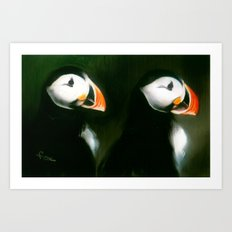 PUFFIN PARADE Art Print
