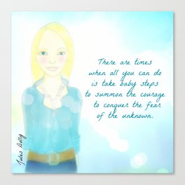 There are times when all you can do is take baby steps Muse Mantra Canvas Print