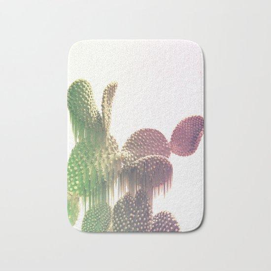 Glitch Cactus Bath Mat
