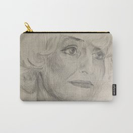 Home Decor Drawing Woman Digital Digital Sketch Modern Room Wall Art Wall Hanging Carry-All Pouch