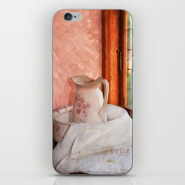 Good morning- vintage pitcher and wash bowl iPhone Skin