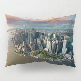 Aerial view of lower Manhattan, New York City Pillow Sham