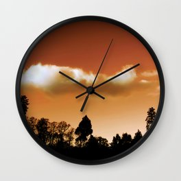 Silhouetted trees Wall Clock
