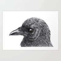 Art Print featuring Magpie by Iskisdra