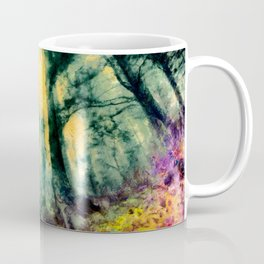 abstract misty forest painting hvhdtop Coffee Mug