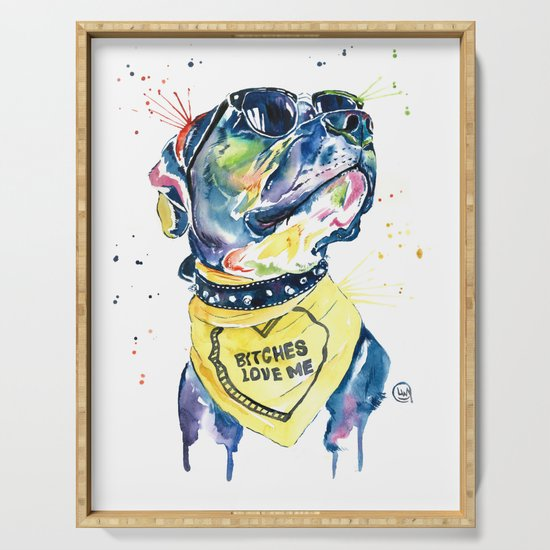 Pitbull, Pit Bull Watercolor Pet Portrait Pinting - Diesel by whitehouseart