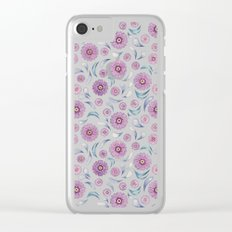 Floral on Lime Clear iPhone Case