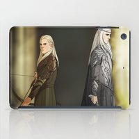 legolas iPad Cases featuring Legolas & Thranduil by rdjpwns