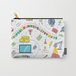 Concept of education seamless pattern Carry-All Pouch