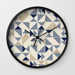 Zigzag Triangles Wall Clock