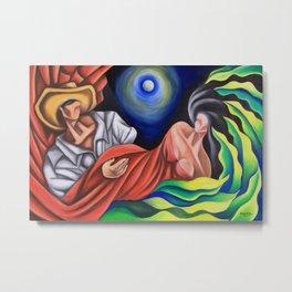The moon between us. Miguez art Metal Print