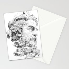 Neptune God of the Sea Stationery Cards