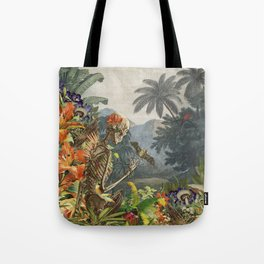 Walking in Paradise original collage by bedelgeuse Tote Bag