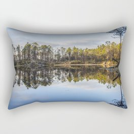 Fløyen Lake Rectangular Pillow
