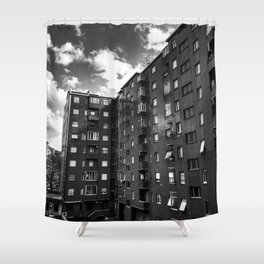 Ugly Buildings Shower Curtain