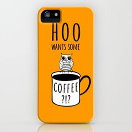 Coffee poster with owl iPhone Case