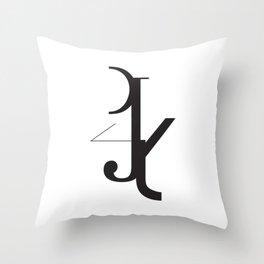 Frankentype Throw Pillow