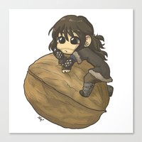 kili Canvas Prints featuring Kili&Walnut by AlyTheKitten