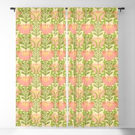 King Protea Flower Pattern - yellow Blackout Curtain