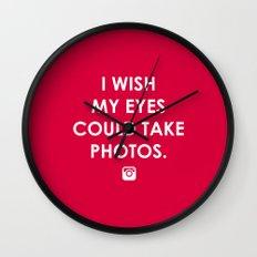 Eyes could take photos Wall Clock