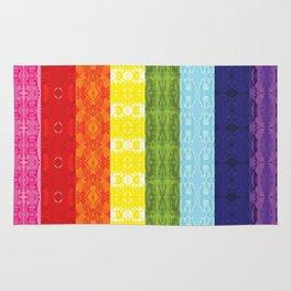 TorsoPattern Gay Pride Flag (Original 8-Color) Rug