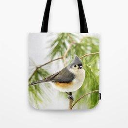 Titmouse Bird Tote Bag